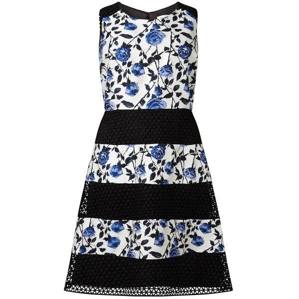 Studio 8 Naples Dress ($64) ❤ liked on Polyvore featuring dresses, crochet maxi dress, long-sleeve floral dresses, plus size dresses, flared skirt and plus size midi dresses