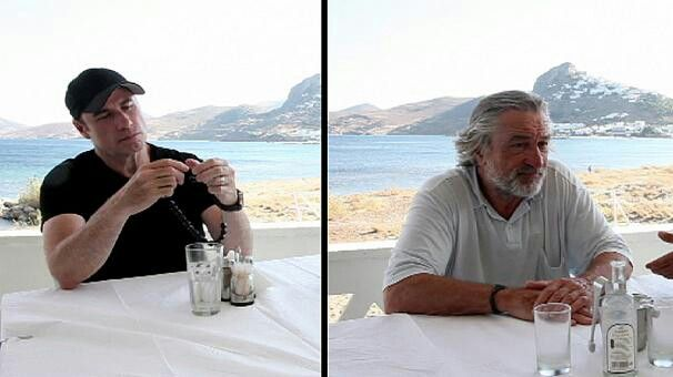 John Travolta and Robert De Niro at Greece