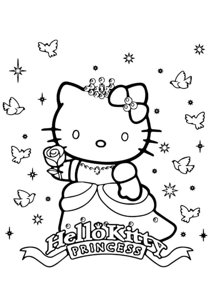 Hello Kitty Princess Coloring Pages Hello Kitty Colouring Pages Kitty Coloring Hello Kitty Coloring