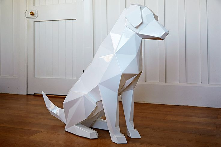 Geometric Animal Sculptures by Ben Foster geometric animals