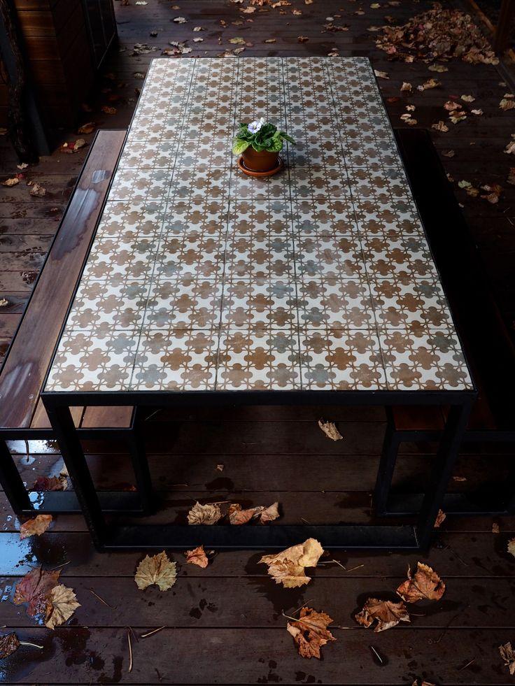 Best 20 Tile top tables ideas on Pinterest Tile tables Garden