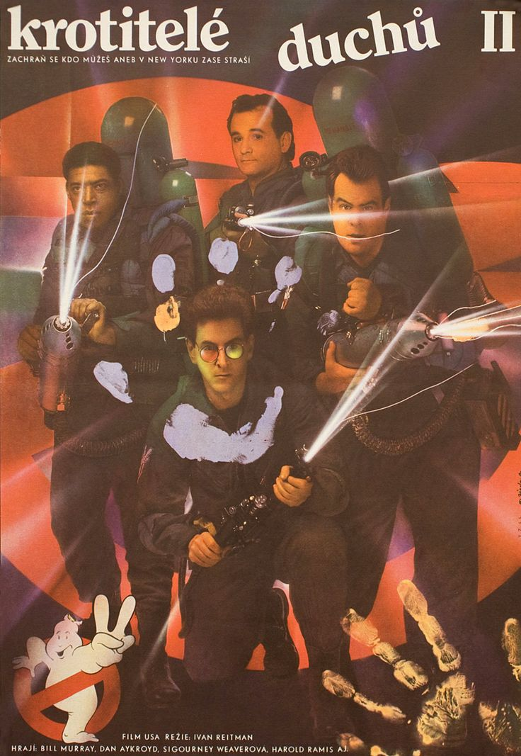 Ghostbusters II    1988 Czech A3 Poster    Zdenek Ziegler