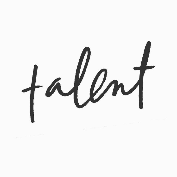 Talent | Hand lettering by Anchored Creative Studio: