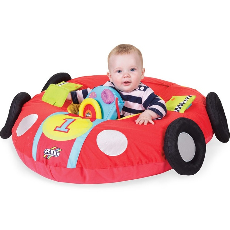 Make their first car as safe as possible. This soft play nest is packed with fun features, including a steering wheel, door flaps and a boot ready to be topped up with toys.