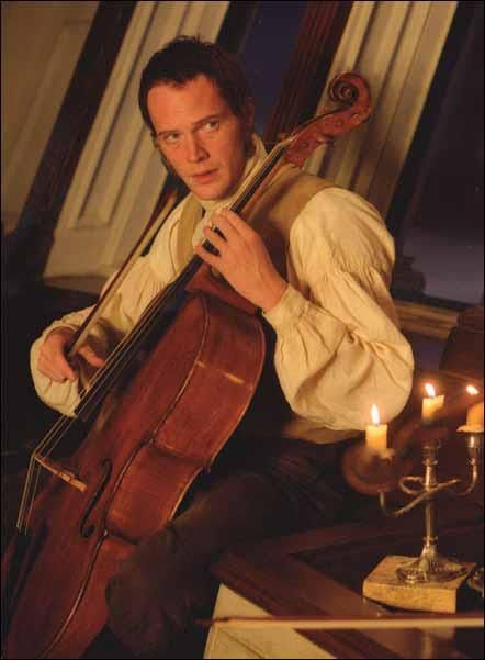 Master and Commander: the far side of the world. Paul Bettany with a cello. I'm done. -throws up.hands in defeat.-