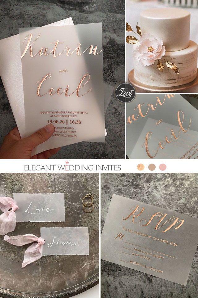 Rose Gold Foiled Bridal Party Napkins