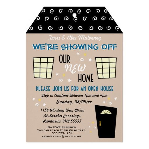 business event invitations open house by green business print