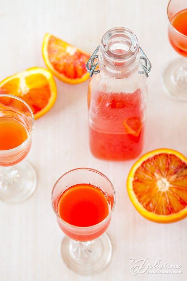 Blood Orangecello - a delicious and addictive blood orange version of limoncello  | deliciouseveryday.com @deliciouseveryd