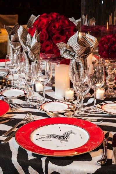 Red And Black Table Settings & Red And White Table Settings Trend ...