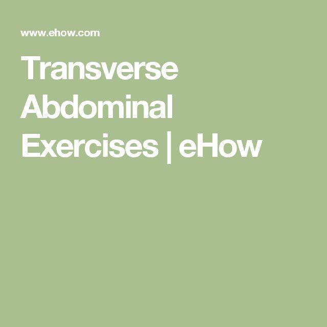 Transverse Abdominal Exercises | eHow