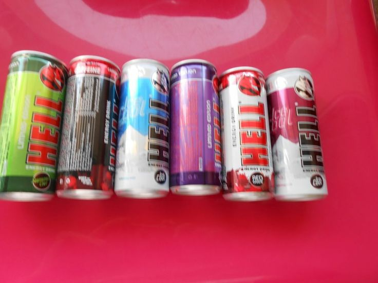 HELL - ENERGY DRINK - LOT 6   EMPTY CANS - LIMITED EDITION FROM CYPRUS