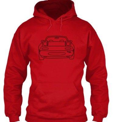 mx5 mk1 hoodie red – mx5 parts