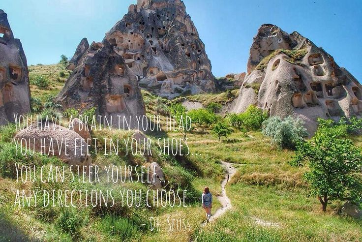This Is Yugen: Here, There and Everywhere: Ten Quotes to Travel by ~~~~~~ #DrSeuss #travel #travelquotes #inspiration #cappadocia