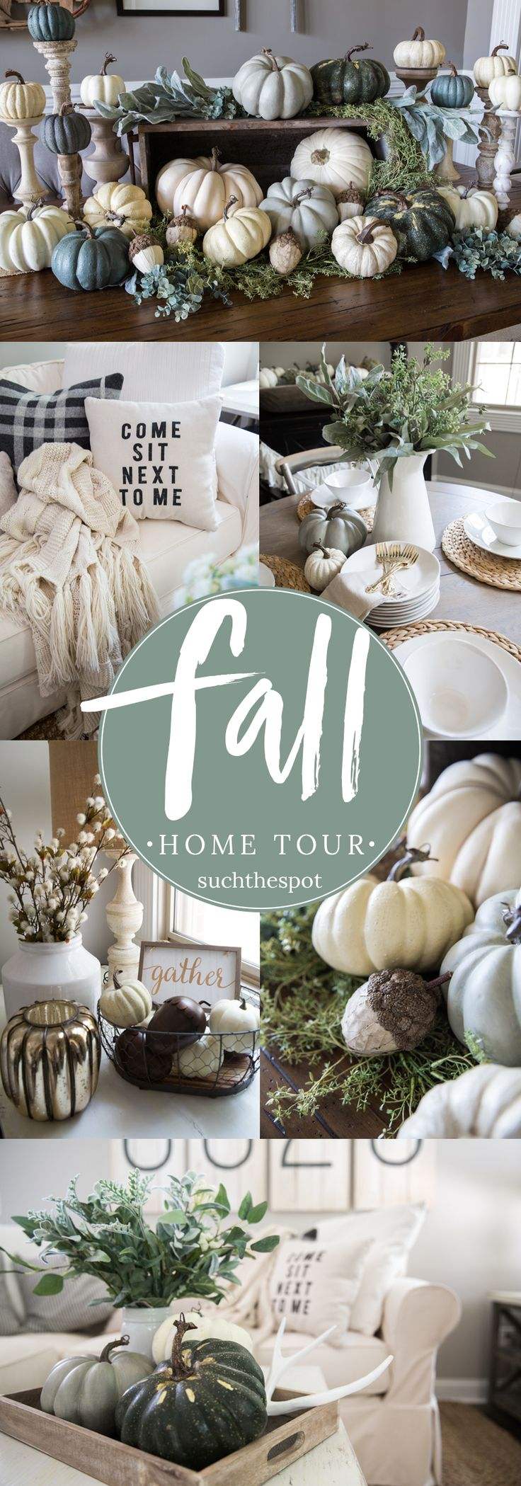 Fall Decor Ideas - From the family room to the farm table centerpiece, I'm sharing simple ideas for DIY fall decorating that will add a seasonal touch to your modern farmhouse.