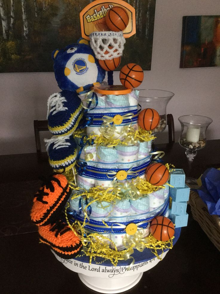 Basketball Diaper Cake Diy Pinterest Diapers Cake
