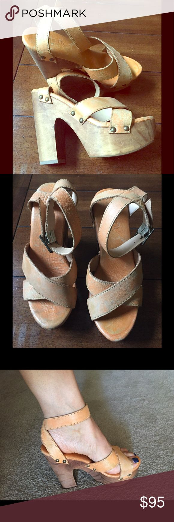 Bed Stu Gorgeous platform heels Bed Stu Gorgeous platform heels. Used very little. In great condition. Very fashionable Bed Stu Shoes Platforms