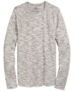 American Rag Men's Space-Dyed Thermal Shirt, Only at Macy's  - Black 2XL