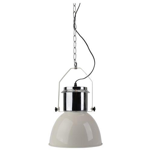 hanglamp industrieel design rvs E27 wit €14,98