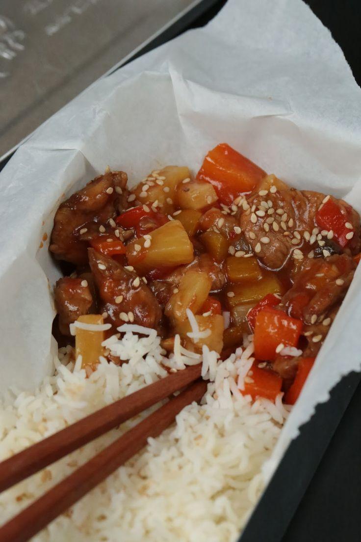 Poulet sauté à l'aigre douce , une recette rapide et facile | Ondinecheznanou.blogspot.com