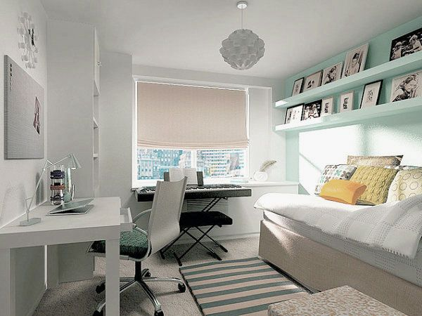 Modern Combination Between Guest Room Music Room And Home Office