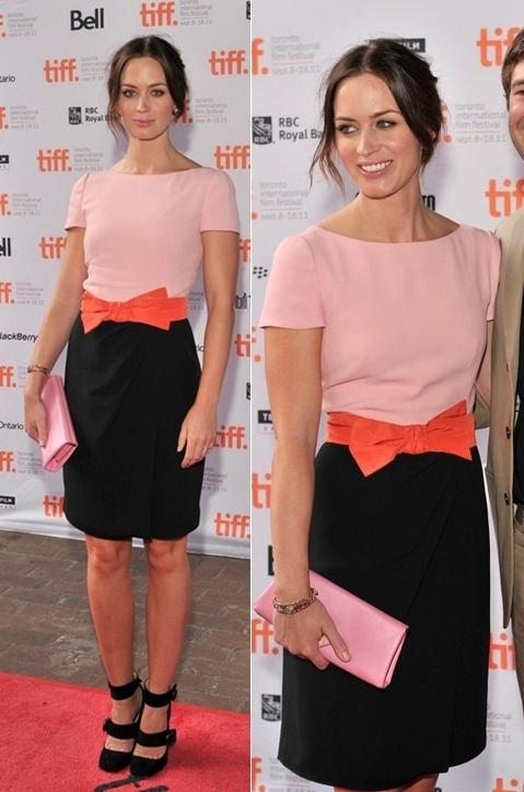 Emily Blunt in #Prada at Toronto Film Festival