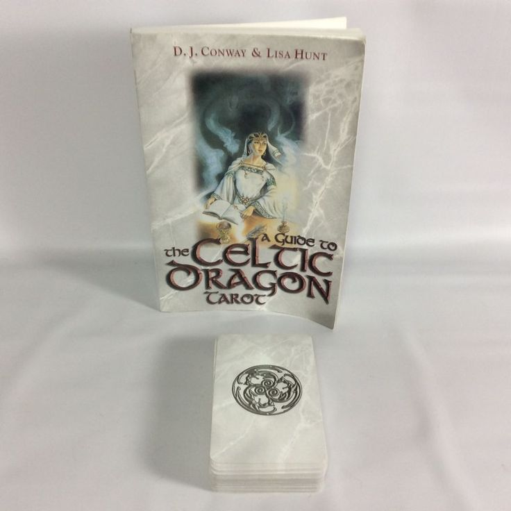 Celtic Dragon Tarot - Cards with Book D J Conway Lisa Hunt Dragon Lore Divinatio