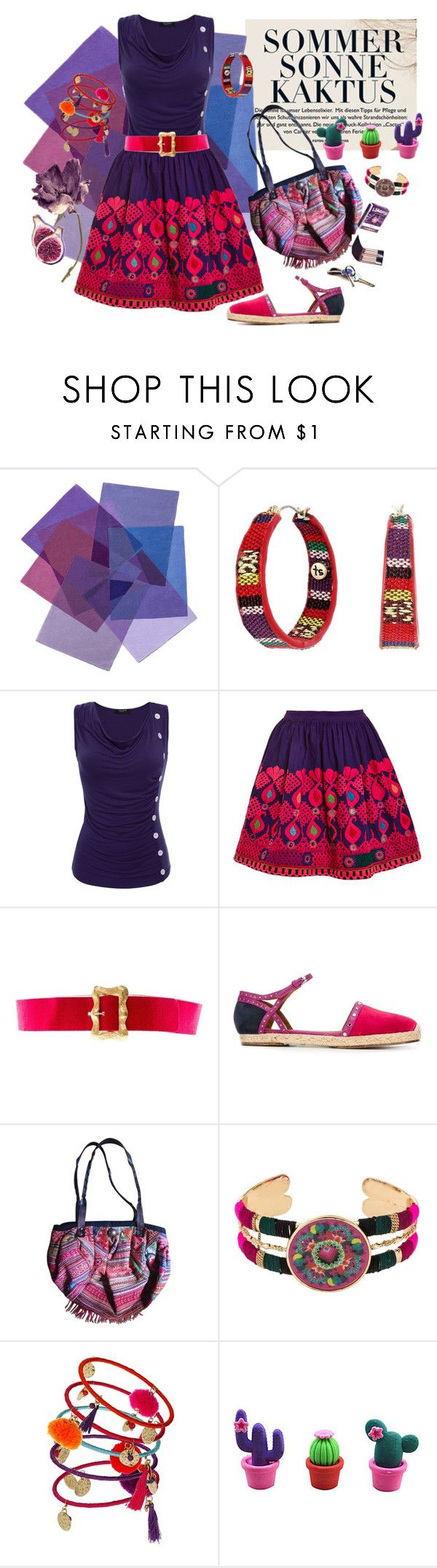 """""""Sommer Sonne Kaktus"""" by synkopika ❤ liked on Polyvore featuring The Sak, Mochi, Chanel, Lanvin, Desigual, Dorothy Perkins and statementskirt"""