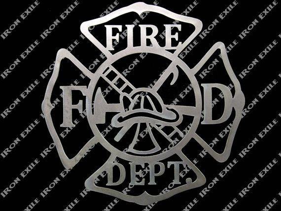 Service d'incendie paroi métallique Art signe par IronExile sur Etsy