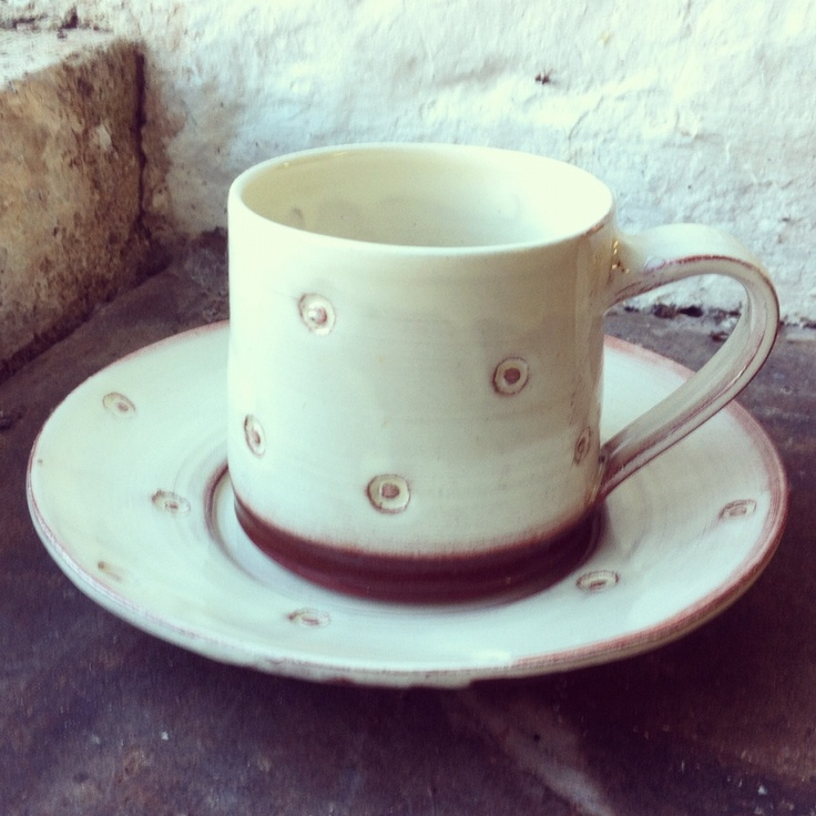 Espresso cup and saucer  www.suzanne-king.co.uk