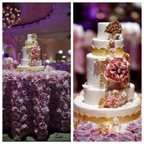 cake for 500 people | Cake table….glam♥! #nigerianwedding #wedding #instawedding # ...
