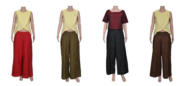Beat the heat with Zoyashi's range of Khadi Parallel Pants. #rockthislookwithZoyashi #kurtas #pants #indianwear #khadiwear #loveforethnic #ethnicwear #longjackets #indian #juttis #khadi #pants