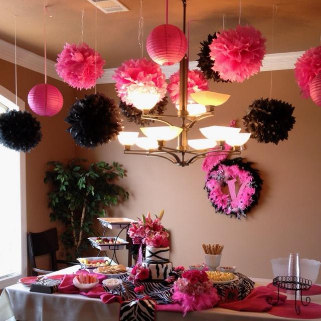 Duel Birthday Decor Zebra Barbie And Princess Themes: Decoracion De Cumpleaños