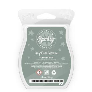 My Dear Watson Scentsy Bar - Refreshing bergamot contrasted with mint, cedar, and suede. Sophisticated and smart. €6.25 or £5 #scentsybars #candlesformen #fragranceformen