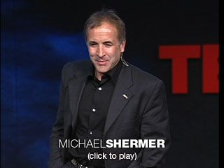 "Michael Shermer: Why people believe weird things  Why do people see the Virgin Mary on a cheese sandwich or hear demonic lyrics in ""Stairway to Heaven""? Using video and music, skeptic Michael Shermer shows how we convince ourselves to believe -- and overlook the facts."