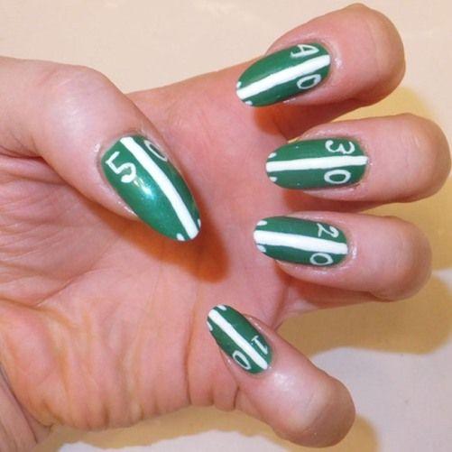 Best 25 football nail art ideas on pinterest football nails 15 fun football nail art designs prinsesfo Images