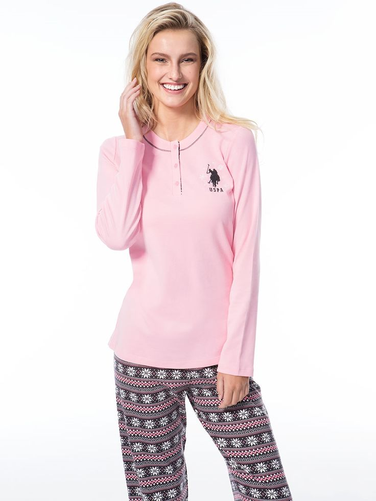 US Polo 15523 Bayan Pijama Takım    Mark-ha.com #markhacom #pijama #fashion #newseason #moda #trend #yenisezon #uspolo
