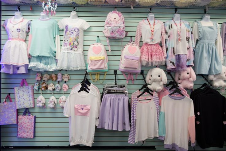 Fickle Wish: Little Tokyo's Newest kawaii clothing store. Filled with all kinds of pastels and Japanese fashion.