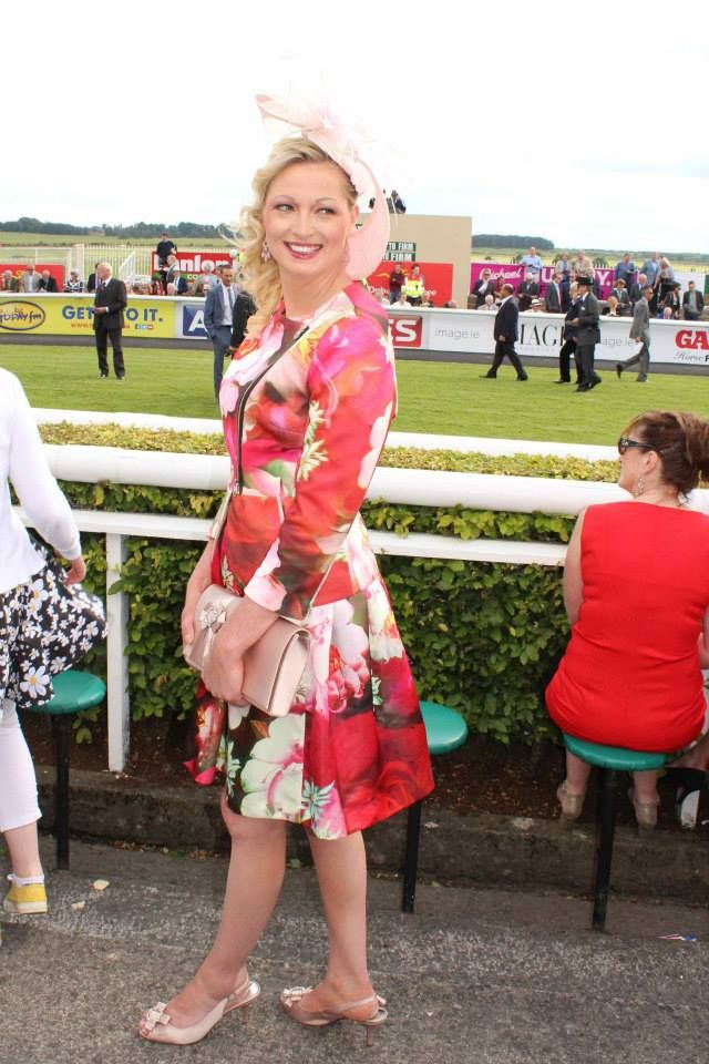 JHK Millinery at the Irish Derby, Curragh Racecourse, 2014.  #FloralDress