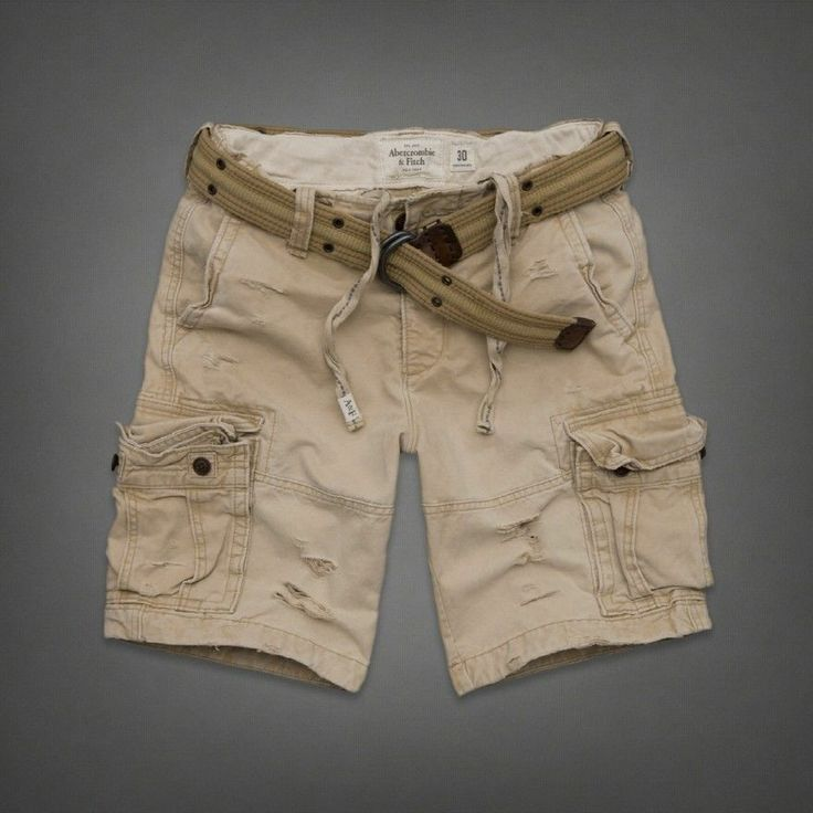 Abercrombie Fitch Mens Vintage Heavy Belted Cargo Shorts 30