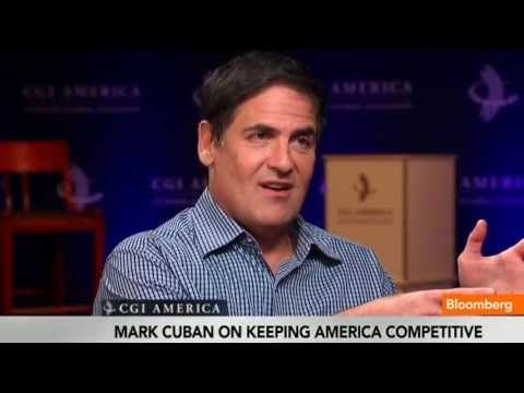 June 14 (Bloomberg) -- Entrepreneur Mark Cuban discusses the U.S. Economy and starting a business with Trish Regan at the Clinton Global Initiative in Chicago o
