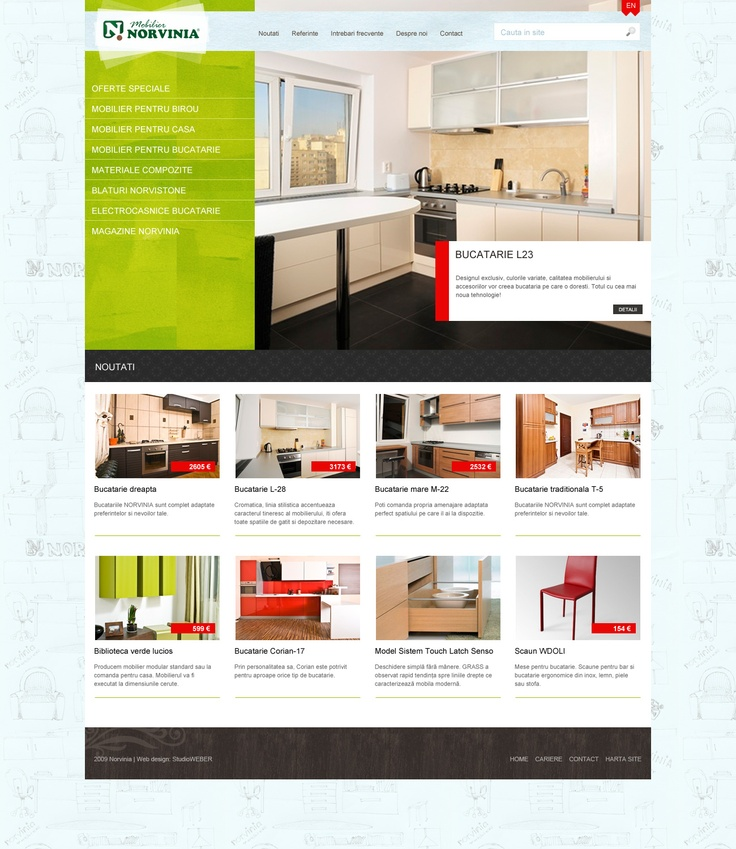 Layout design - Home page