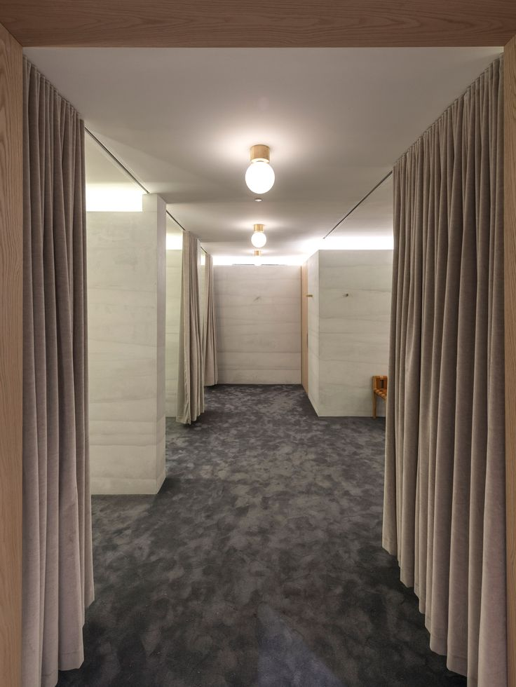 Striated Concrete Partitions Create Fitting Rooms At Thakoonu0027s First  Boutique Part 60