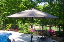 Looking for a new a new large patio umbrella? Your fabric choice is as important as your color choice. Find out which fabrics don't fade and are mildew and stain resistant.
