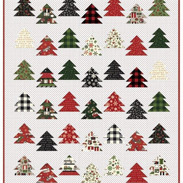 Back In Stock This Beautiful Quilt Called Tree Farm By Keera Job Sold Out So Fast Christmas Delivery Fabric Farm Quilt Patterns Farm Quilt Christmas Quilts