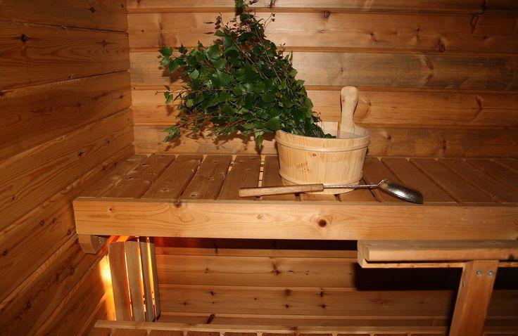 sauna and birch vihta