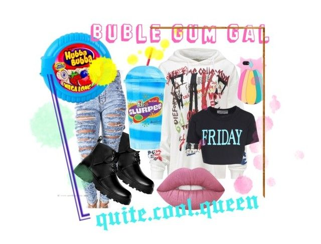 """""""Buble Gum Gal"""" by quitecoolqueen ❤ liked on Polyvore featuring Alberta Ferretti"""