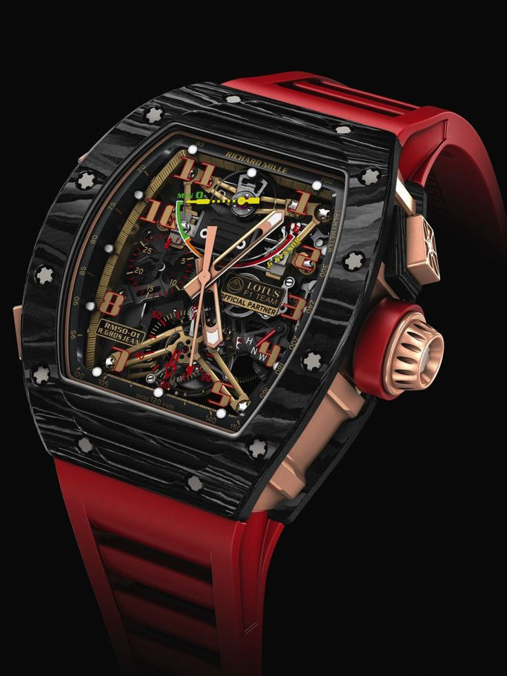 SIHH 2014 - Richard Mille - RM 50-01 Sensor Lotus F1 Team Romain Grosjean