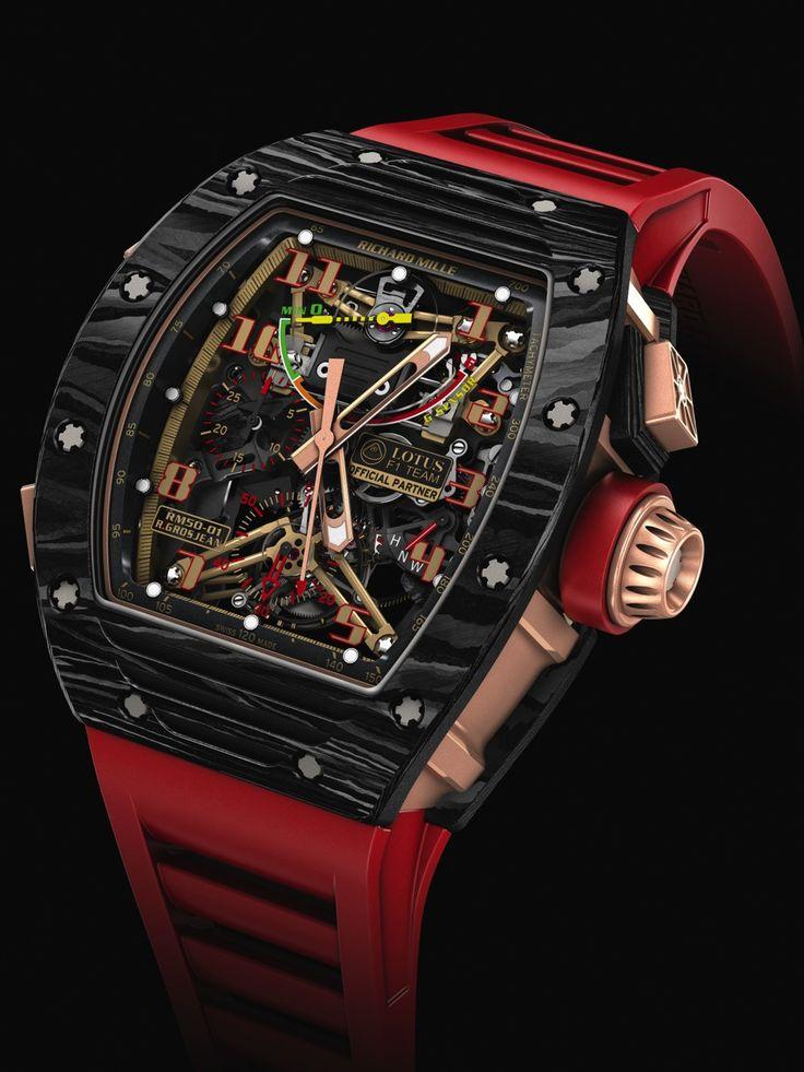 SIHH 2014 - Richard Mille - RM 50-01 Sensor Lotus F1 Team Romain Grosjean watch