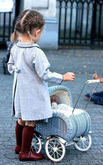 Classic clothes meet modern hair. #kids #fashion #estella