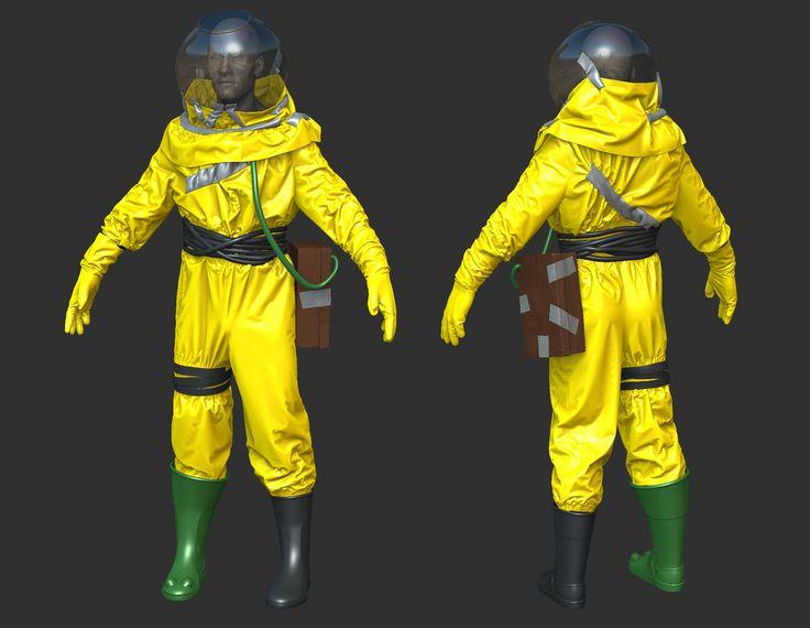 ArtStation Rust Hazmat Suit WIP Xavier Coelho Kostolny